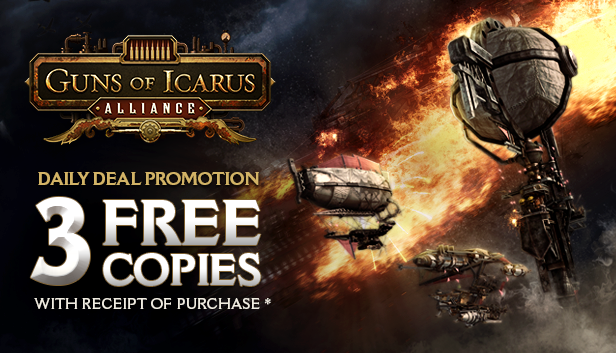 Compra Guns of Icarus Alliance y te regalan 3 copias extra
