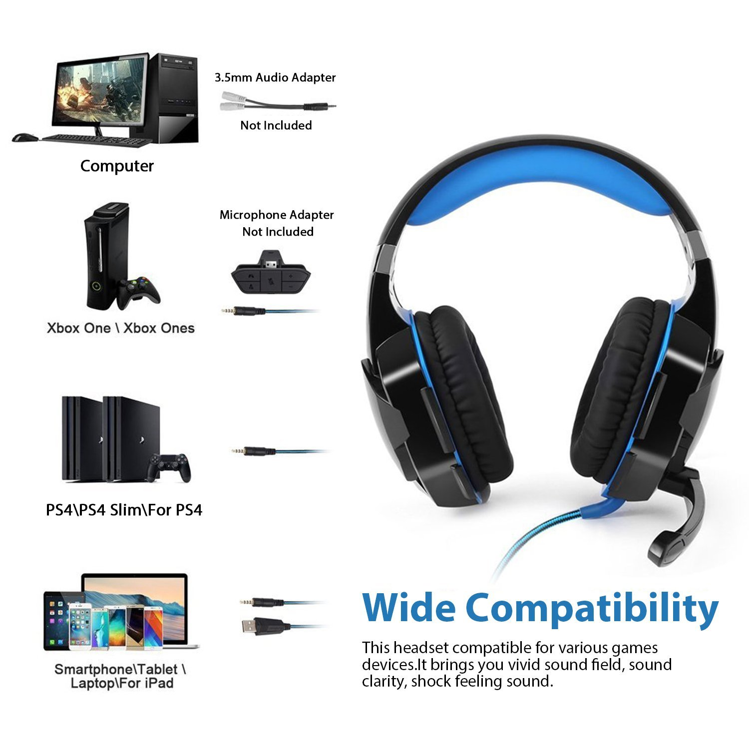 Auriculares Gaming Tsing PS4, Xbox One, PC