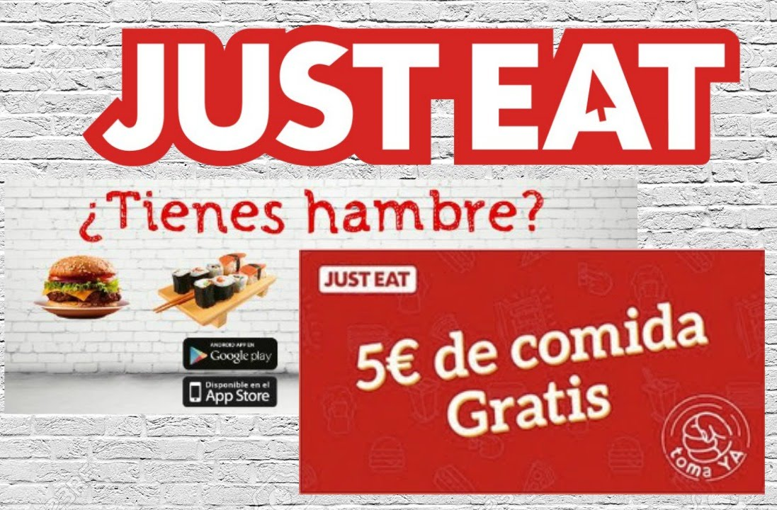5€ GRATIS para JUST-EAT