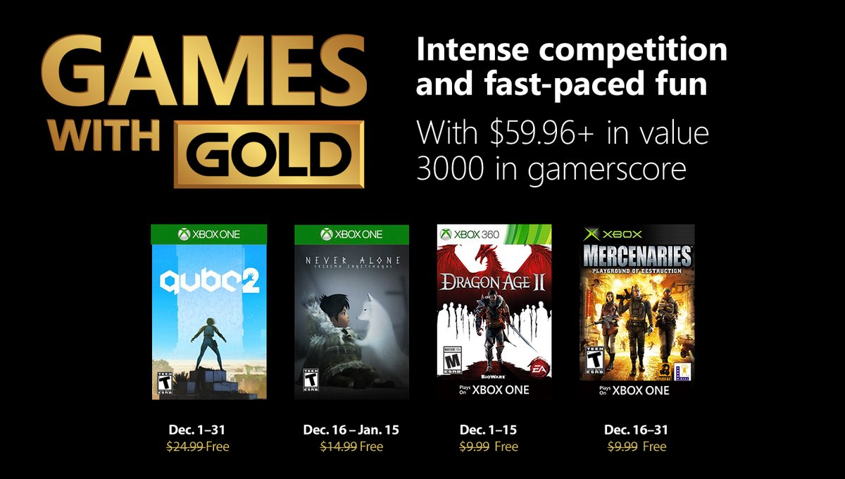 Games with Gold (Diciembre 2018)