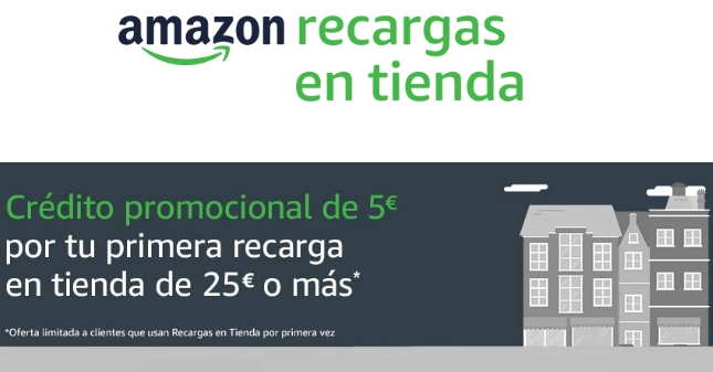 5€ GRATIS en Amazon recargando 25€