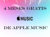 4 meses de Apple Music GRATIS