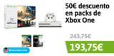 50€ de descuento en packs de Xbox One en Amazon