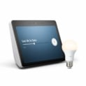 Pack Echo Show de 2º Gen con pantalla HD de 10″ + Philips Hue White Bombilla LED