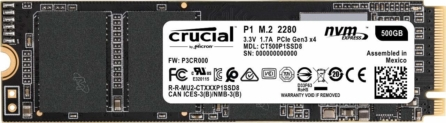SSD M.2 Crucial 500GB solo 66€