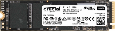 SSD NVMe Crucial 1TB solo 105,6€