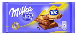Tableta Milka Chocolate Y Galleta Tuc 0,9€