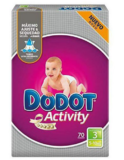 70 Pañales Dodot Activity Talla 3 solo 15,9€