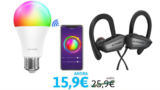 Pack auriculares + bombillas LED RGB  solo 17€