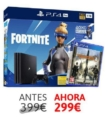 PS4 PRO 1TB + The Division 2 + Voucher de Fortnite solo 299€