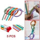 5 pcs Multicolor flexible lápiz, flexible lápiz para niños