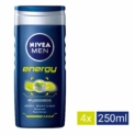 Nivea men – Energy, cuidado de ducha, pack de 4 (4 x 250 ml)