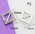 Pack 10 Hebillas de Diamantes