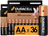 Pack 36 Duracell Plus AA Pilas Alcalinas