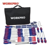 Kit de destornilladores 130 piezas WorkPro