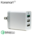 Konsmart 30W Quick Charge 3.0 3-Port USB Wall Charger