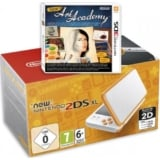 New Nintendo 2DS XL Blanco naranja + juego new art academy 3DS