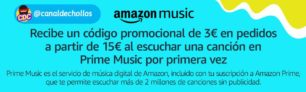 3€ GRATIS al usar Amazon Music