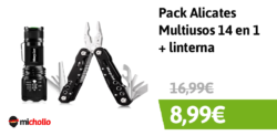 Pack Alicates Multiusos 14 en 1 y linterna