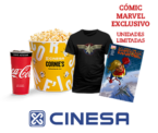 Camiseta más cómic exclusivo Capitana América en Cinesa